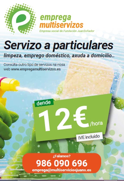 Servizo a particulares de limpeza, emprego doméstico, axuda a domicilio en Vigo